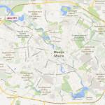 Карта города Минска